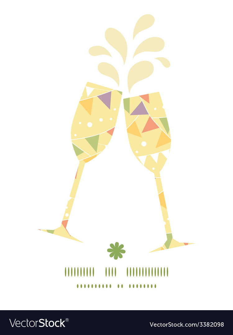 Party decorations bunting toasting wine glasses vector | Price: 1 Credit (USD $1)