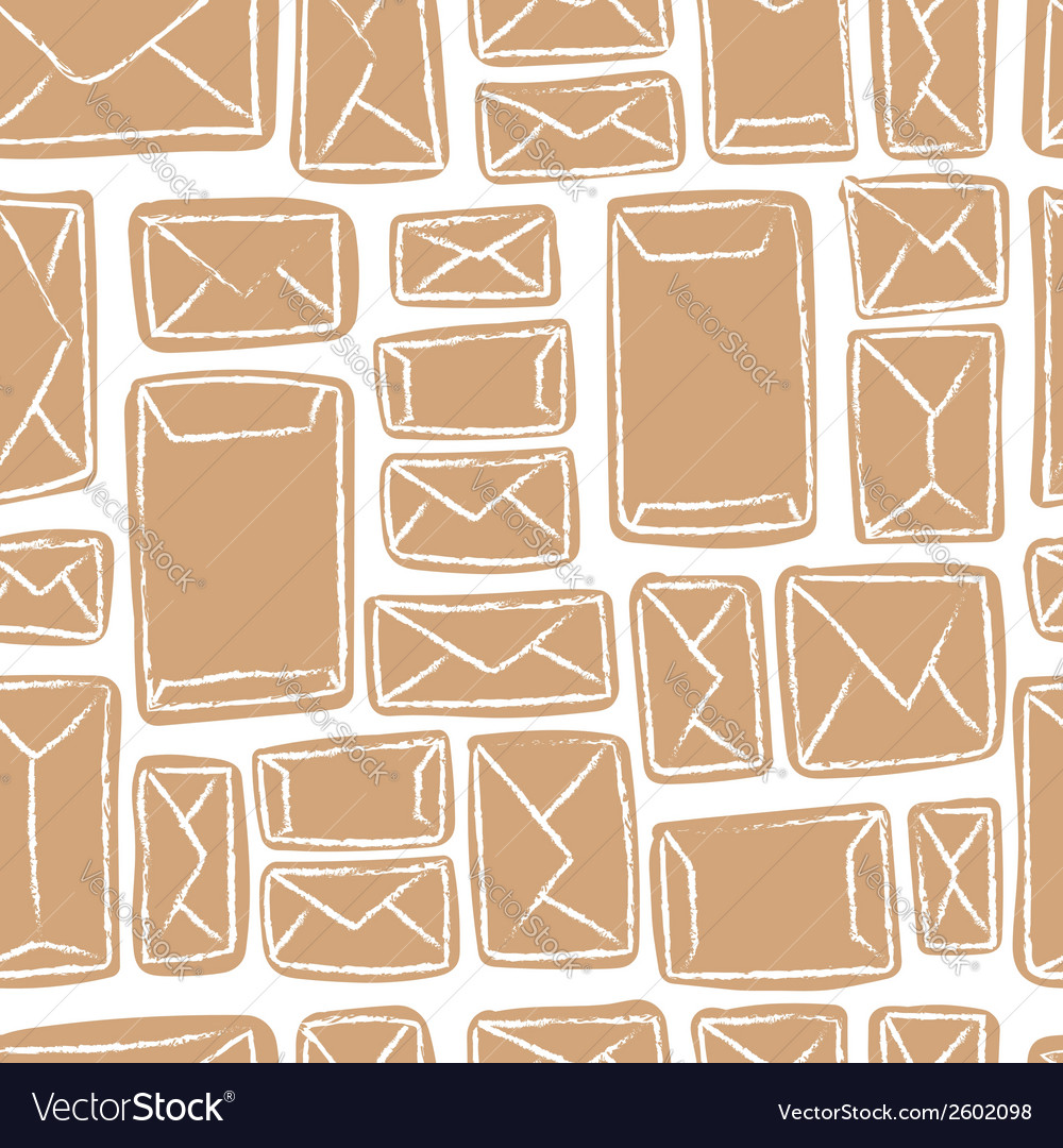 Seamless pattern - many craft envelopes vector | Price: 1 Credit (USD $1)