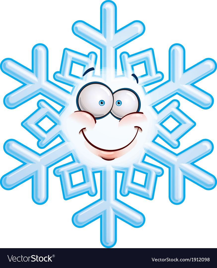 Snowflake head smiley vector | Price: 1 Credit (USD $1)