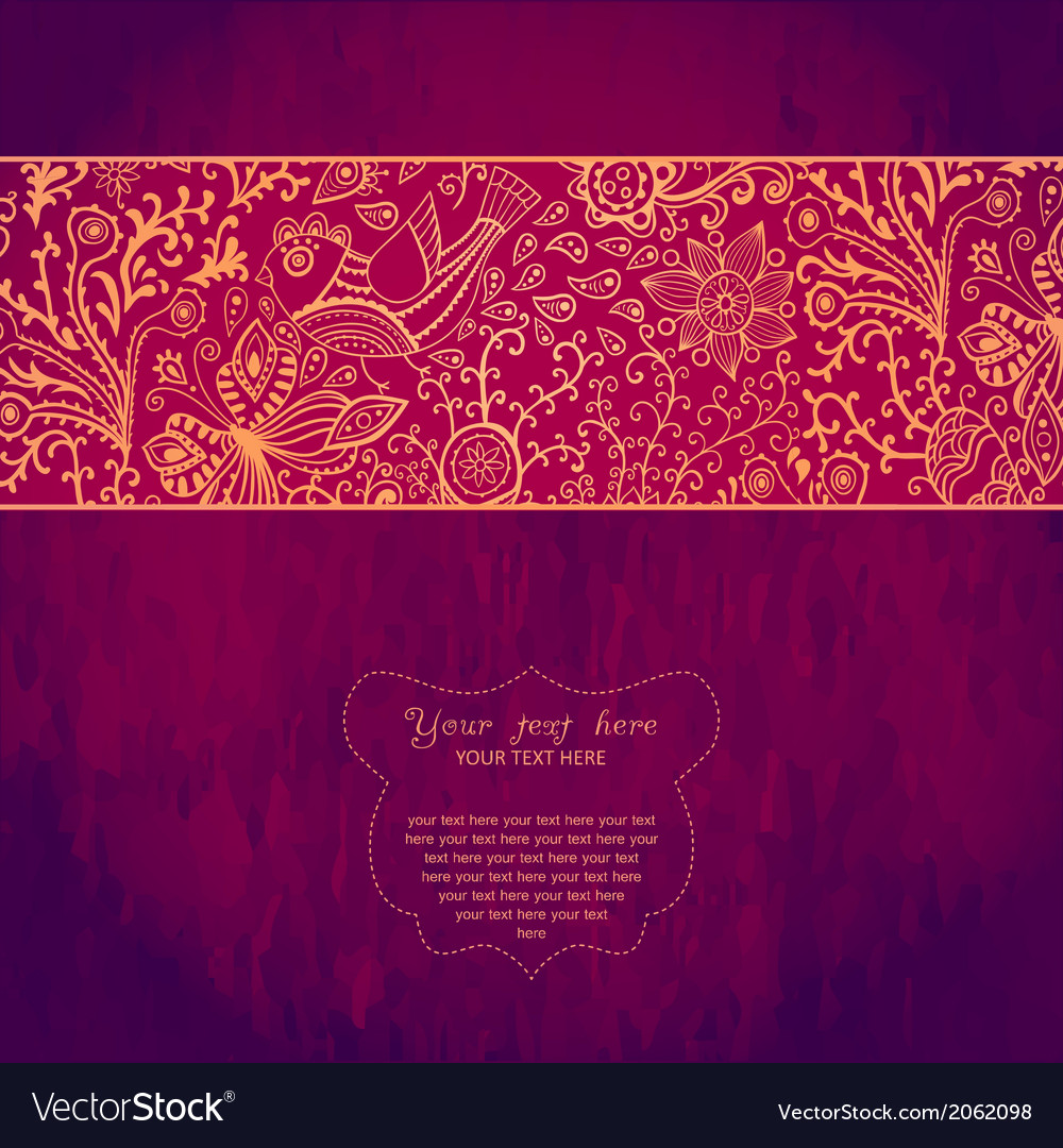 Vintage invitation card on grunge background with vector   Price: 1 Credit (USD $1)