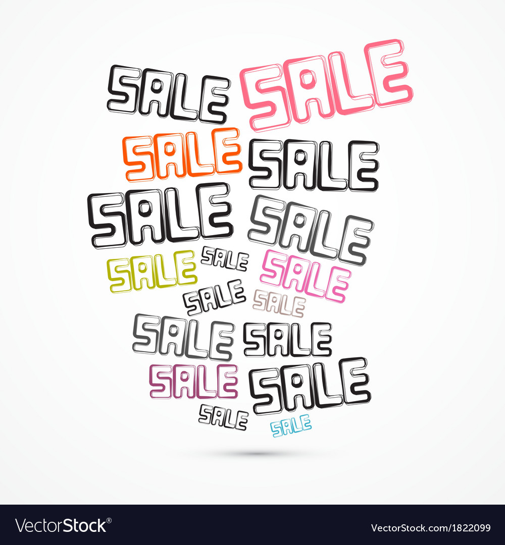 Abstract grunge sale titles vector | Price: 1 Credit (USD $1)