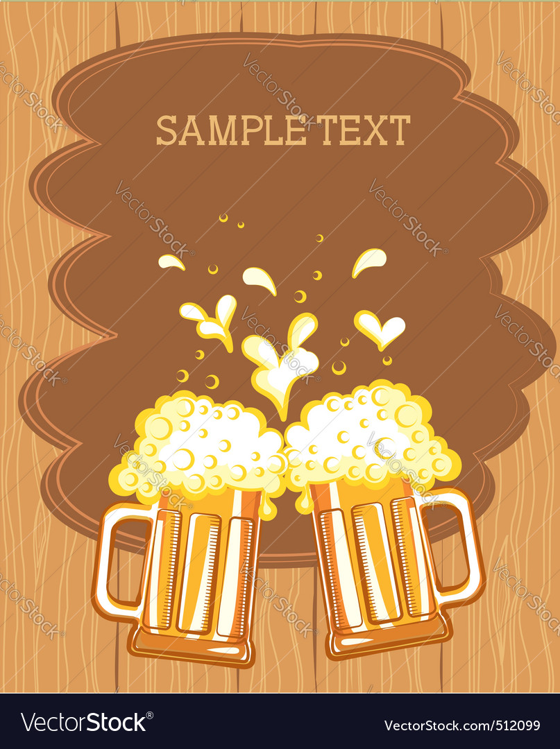 Beer fest background vector | Price: 1 Credit (USD $1)