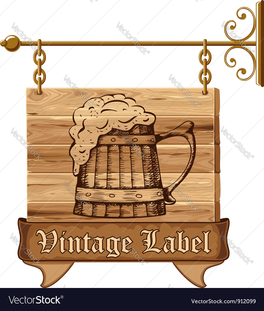 Beer sign vector | Price: 1 Credit (USD $1)