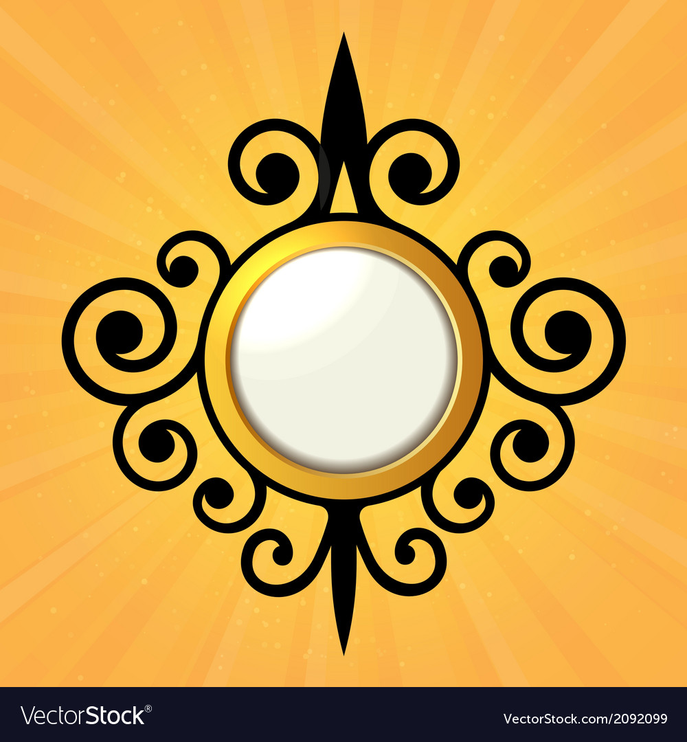 Blank orange sticker with curled border vector | Price: 1 Credit (USD $1)