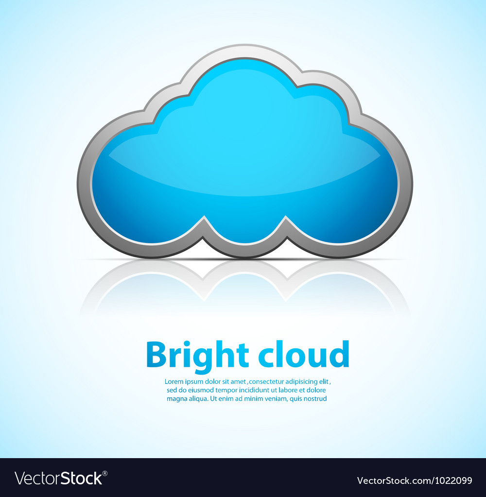 Blue cloud vector | Price: 1 Credit (USD $1)