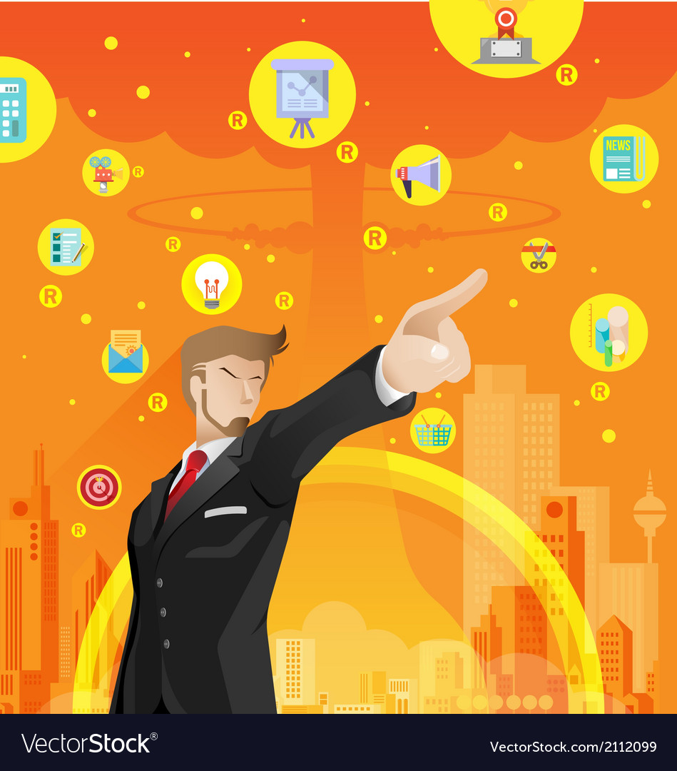 Business war competition concept 01 vector | Price: 3 Credit (USD $3)