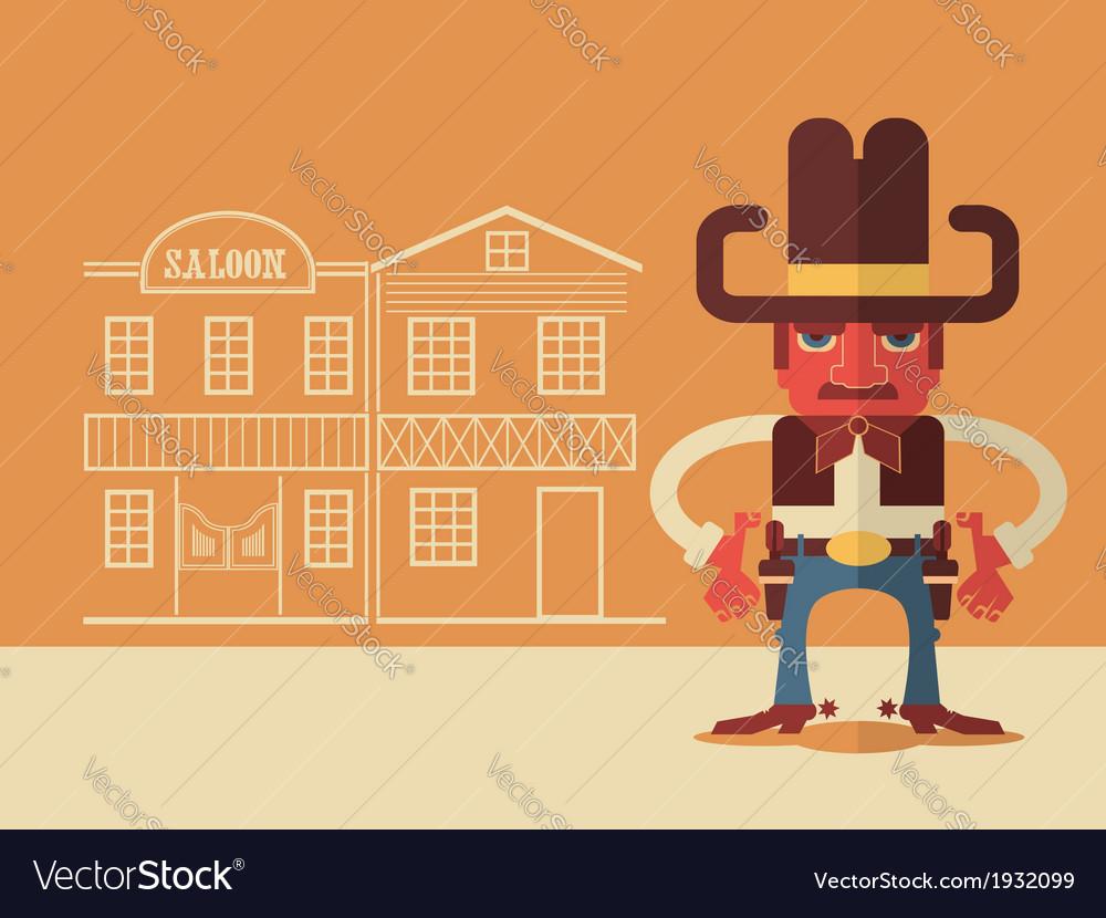 Cowboy with guns vector   Price: 1 Credit (USD $1)