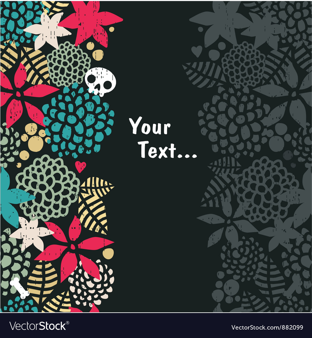Foliage with skull background vector   Price: 1 Credit (USD $1)