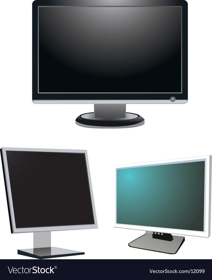 Monitors vector | Price: 1 Credit (USD $1)