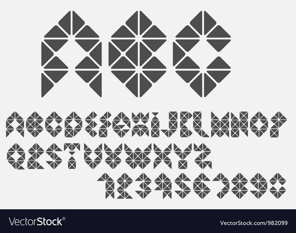 Original mosaic alphabet vector | Price: 1 Credit (USD $1)
