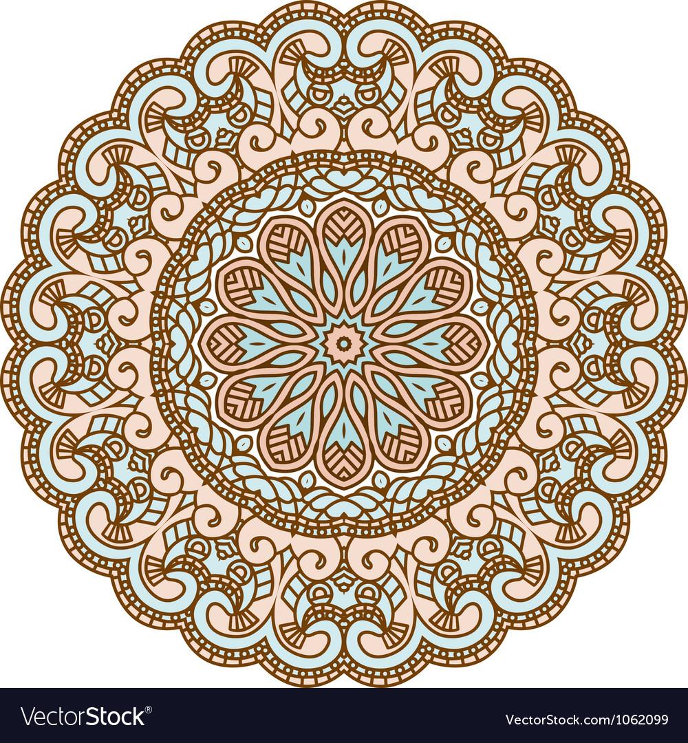 Round decorative design element vector   Price: 1 Credit (USD $1)