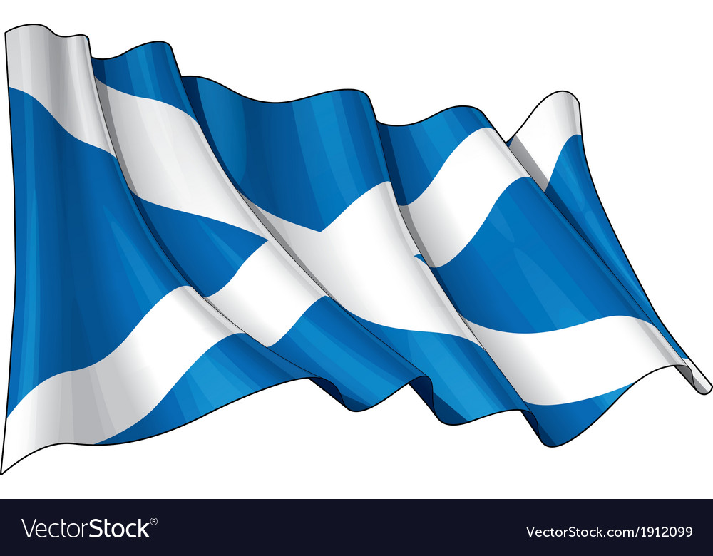 Scotland flag vector | Price: 1 Credit (USD $1)