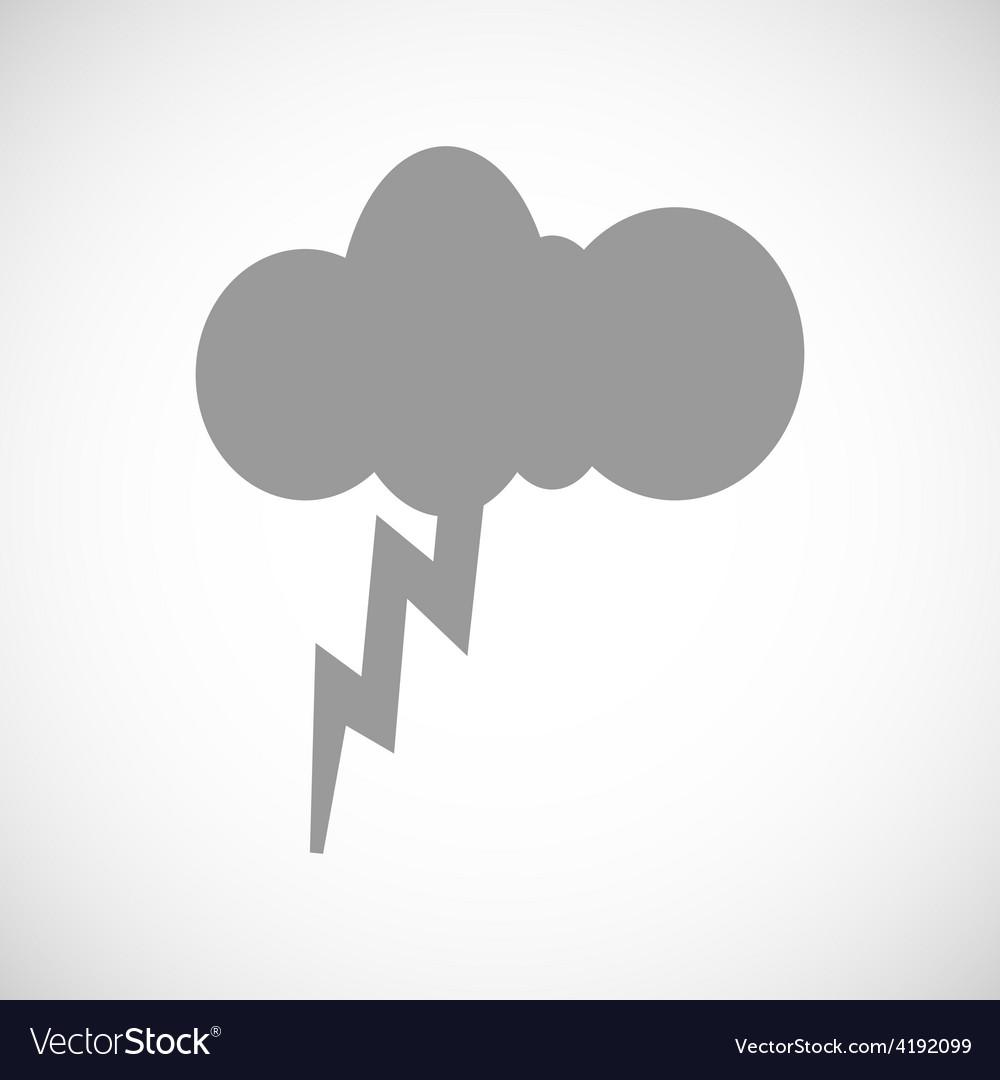 Storm black icon vector | Price: 1 Credit (USD $1)
