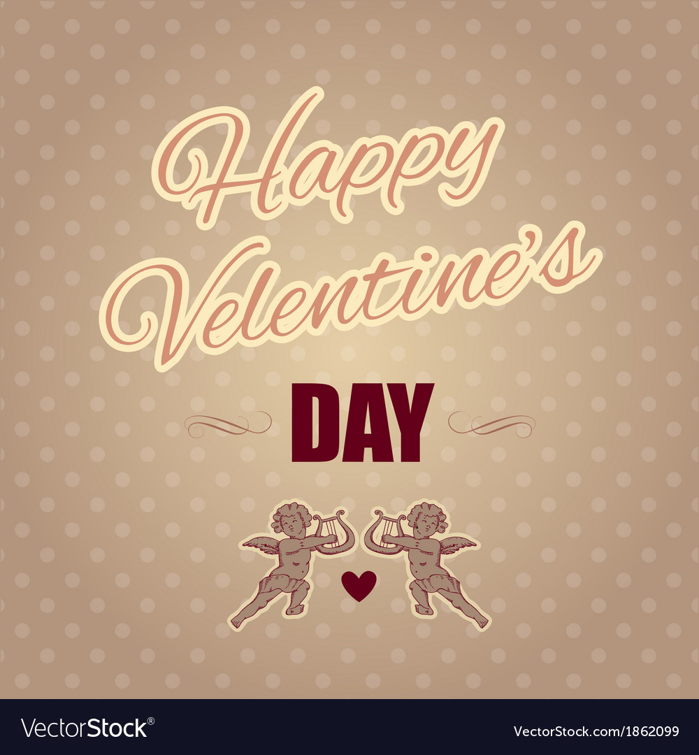 Typographical banner happy valentines day vector | Price: 1 Credit (USD $1)
