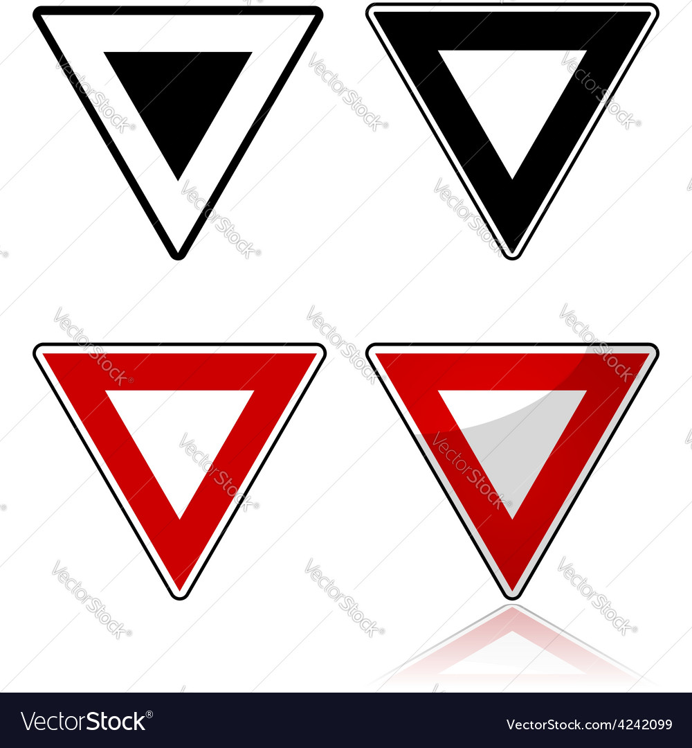 Yield sign vector | Price: 1 Credit (USD $1)