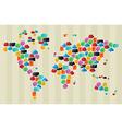 Social media bubbles globe world map vector