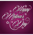 Creative happy mothers day greeting vector