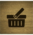 Shopping basket flat modern web button and space vector