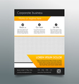 Business flyer template - fresh orange design vector