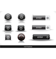 Set of dark web buttons vector