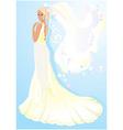 Beautiful young bride vector
