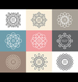 Set of calligraphicflower abstract templates vector