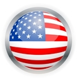 North american usa flag button vector