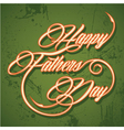 Retro happy fathers day greeting vector