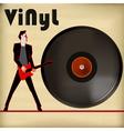 Guitar vinyl vector