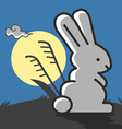 Rabbit under the moonlight vector