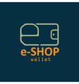 Electronic wallet flat design design template vector