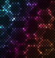 Mosaic with colourful hexagons background vector