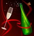 Celebratory champagne vector