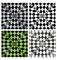 Abstract checkered background set eps10 vector
