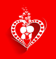 Valentine day background with heart vector