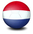 A soccer ball designed with the flag of the vector