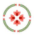 Design elements - round floral frame flower icon vector