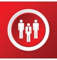 Workgroup icon on red vector