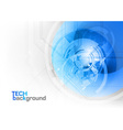 Tech background blue corner round vector
