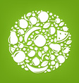 Fruits sphere vector