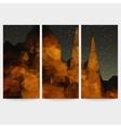 Set of beautiful night landscape backgrounds vector