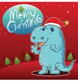 Dragon merry christmas vector