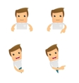 Set of funny cartoon casual man vector