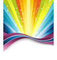 Rainbow banner template vector