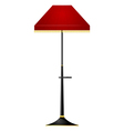 Of red floor lamp vector