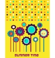 Summer time flower card vector