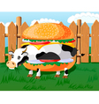 Cow hamburger vector