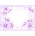 Abstract flower design vector