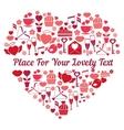 Love heart shape vector