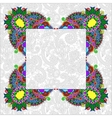 Floral frame ethnic ukrainian ornament on paisley vector